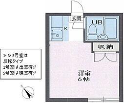リイチ氷川台II[0205号室]の間取り