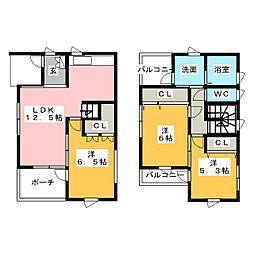 [一戸建] 愛知県名古屋市緑区池上台2丁目 の賃貸【愛知県 / 名古屋市緑区】の間取り