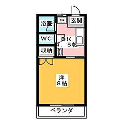 フォーレスト富士[2階]の間取り