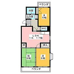 ひまわり館[4階]の間取り