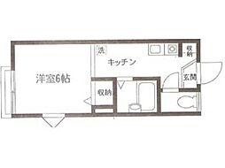 フォレスト6番館[2階]の間取り