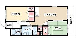 愛知県日進市香久山1丁目の賃貸アパートの間取り