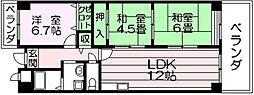 パレグリシーヌ 高井田 高井田5分[11階]の間取り