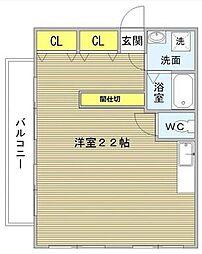 桜レジデンシャル[501号室]の間取り