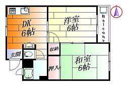 第一池上マンション[3階]の間取り
