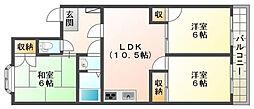リバティセキ[203号室]の間取り