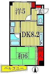 ブルーパロット アヤメ[2階]の間取り