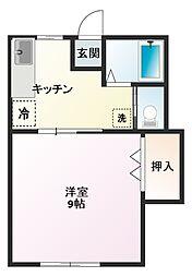 穴川ハウス[201号室]の間取り