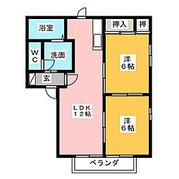 ウィステリア菊川[2階]の間取り