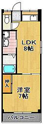 千島マンション[4階]の間取り