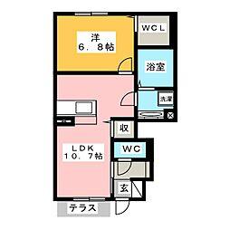D-room御津町広石 1階1LDKの間取り
