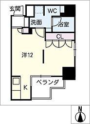 DOMUS&PLEASURE[8階]の間取り