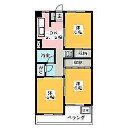 エスポワール岩倉[4階]の間取り