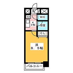 エンクレスト博多駅南[9階]の間取り