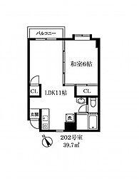 134702 第一斉藤ビル[3階]の間取り