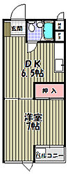 ニューハイツ松川[2階]の間取り
