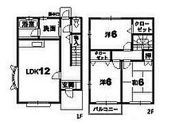 [テラスハウス] 徳島県小松島市小松島町 の賃貸【/】の間取り