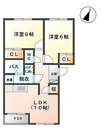 リバティ1[1階]の間取り