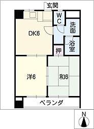 ブルームイン華陽マンション[4階]の間取り