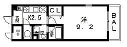 G・クレセント[5階]の間取り