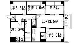 サンハイツ宝塚[2階]の間取り