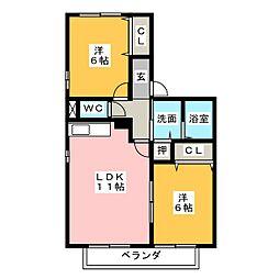カーサHIRO[1階]の間取り