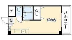 エイデルハイム甲子園[2-E号室]の間取り