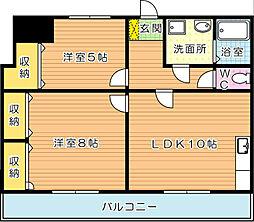 パラシオ二島(特優賃)[4階]の間取り