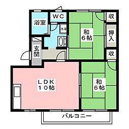 レジデンス武蔵A[2階]の間取り
