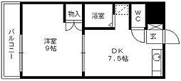 シャトレ東合川[201号室]の間取り