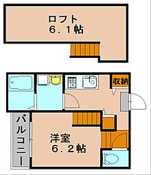 トゥジュール美野島[1階]の間取り