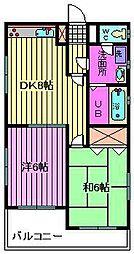サンライト松本[1階]の間取り
