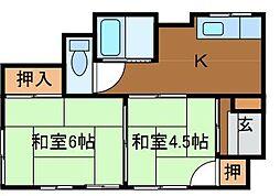 [一戸建] 東京都町田市南大谷 の賃貸【/】の間取り