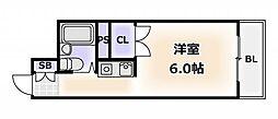 大阪府大阪市浪速区恵美須西3丁目の賃貸マンションの間取り