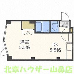 メゾンドボワール円山[4階]の間取り