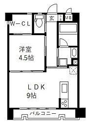 JR鹿児島本線 香椎駅 徒歩5分の賃貸マンション 1階1LDKの間取り