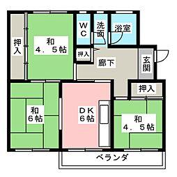 藤山台団地116号棟304号室[3階]の間取り