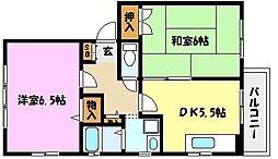 兵庫県神戸市東灘区森北町4丁目の賃貸アパートの間取り