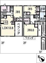 フェリーチェ ハウス[3階]の間取り