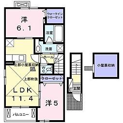 サンフォレスト M[2階]の間取り