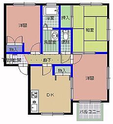茨城県那珂郡東海村東海2丁目の賃貸アパートの間取り