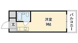 兵庫県尼崎市大庄西町1丁目の賃貸アパートの間取り