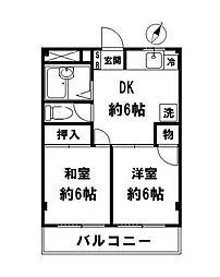 千葉県浦安市猫実1丁目の賃貸マンションの間取り