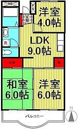 西新井サニーコーポ[4階]の間取り