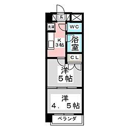 アルファ台原[1階]の間取り