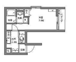 東京メトロ丸ノ内線 新宿三丁目駅 徒歩5分の賃貸マンション 4階1Kの間取り