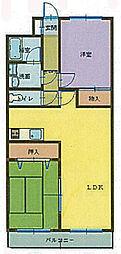 小森谷マンション[3階]の間取り