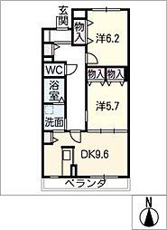 ブルースカイマンションIII[3階]の間取り
