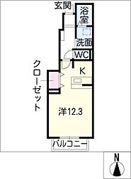 ロイヤルステージ・アイ E棟[1階]の間取り