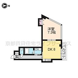 泉涌寺HIRANOマンション[202号室]の間取り